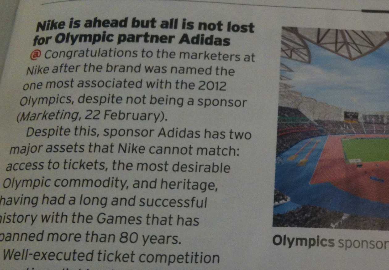 being a sponsor of the olympic games marketing essay Olympic games, any olympic achievement, an noc, an olympic team, the ioc, to gain a commercial benefit by (or from) a non-olympic partner, so from an entity that has not got that exclusivity directly from the ioc or the noc so it's a non-authorized action what is the difference between ambush marketing and rule 40 rule 40 basically regulates the use of the participants' image during the period of the olympic games.