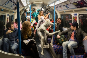 A Fright Mob on the London Underground (Source: Metro.co.uk)