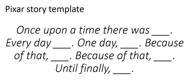 pixar-story-template